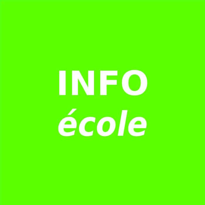 Info école